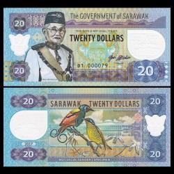 SARAWAK - Billet de 20 DOLLARS - Librairie de Sarawak - 2017