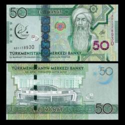 TURKMENISTAN - Billet de 50 Manat - 2017
