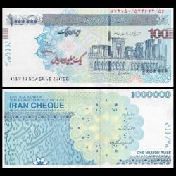 IRAN - Billet de 1000000 Rials - 2010 - CHEQUE