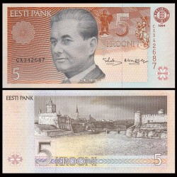 ESTONIE - Billet de 5 Krooni - Paul Keres - 1994 P76a