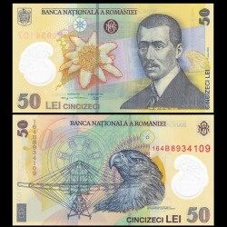 ROUMANIE - Billet de 50 Lei - Aurel Vlaicu - Polymer - 2016