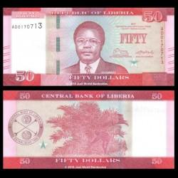 LIBERIA - Billet de 50 DOLLARS - 2017 P34b