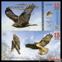 ATLANTIC FOREST - Billet de 15 Aves - Aigle - 2016