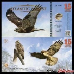 ATLANTIC FOREST - Billet de 15 Aves - Aigle - 2016