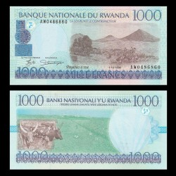 RWANDA - Billet de 1000 Francs - 1.12.1998