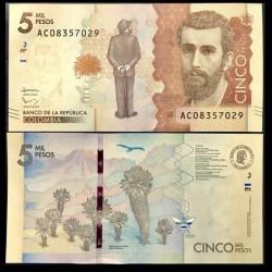 COLOMBIE - Billet de 5000 Pesos - Abeilles - 02.08.2016