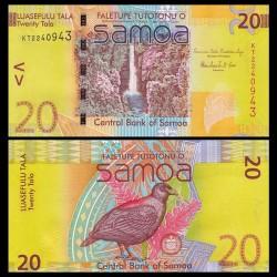 SAMOA - BILLET de 20 Tala - Oiseau de Manumea - 2012 P40b