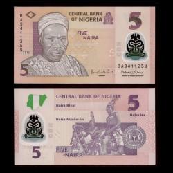 NIGERIA - Billet de 5 Naira - Polymer - 2013