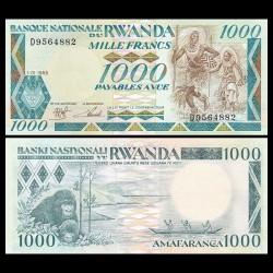 RWANDA - Billet de 1000 Francs - 1988