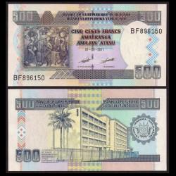 BURUNDI - Billet de 500 Francs - 2011 P45b