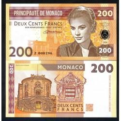 MONACO - Billet de 200 Francs - Princesse Grace Kelly - 2018