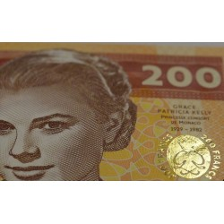 MONACO - Billet de 200 Francs - Princesse Grace Kelly - 2018