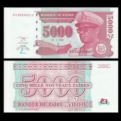 ZAIRE - Billet de 5000 Nouveaux Zaïres - 30.1.1995