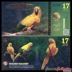 ATLANTIC FOREST - Billet de 17 Aves - Conure dorée - 2016 0017 AVES