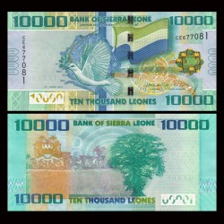 SIERRA LEONE - Billet de 10000 Leones - 27.04.2010 P33a