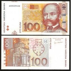 CROATIE - BILLET de 100 Kuna - 07.03.2002