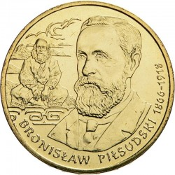 POLOGNE - PIECE de 2 ZLOTE - Explorateurs & Scientifiques Polonais: Bronisław Piłsudski - 2008