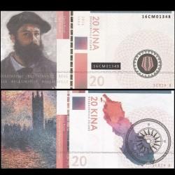 BOUGAINVILLE - Billet de 20 Kina - Série Peintres - Claude Monet - 2016 00020-2016