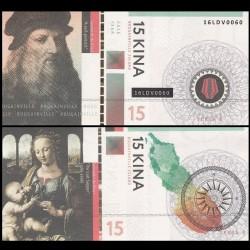 BOUGAINVILLE - Billet de 15 Kina - Série Peintres - Léonard de vinci- 2016 00015-2016