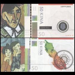BOUGAINVILLE - Billet de 50 Kina - Série Peintres - Pablo Picasso - 2016