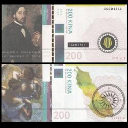 BOUGAINVILLE - Billet de 200 Kina - Série Peintres - Edgar Degas - 2016