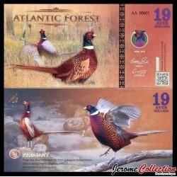 ATLANTIC FOREST - Billet de 19 Aves - Faisan - 2016