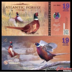 ATLANTIC FOREST - Billet de 19 Aves - Faisan - 2016