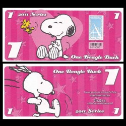 CEDAR FAIR- Billet de 1 Bargle Buck - 2011 - Snoopy & Woodstock