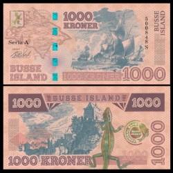 BUSSE ISLAND / ILE BUSS - Billet de 1000 Kroner - Lezard / Bateaux - 2017