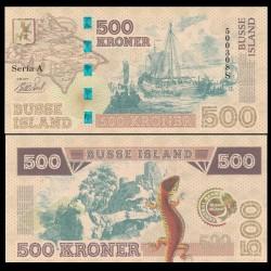 BUSSE ISLAND / ILE BUSS - Billet de 500 Kroner - Lezard / Bateaux - 2017