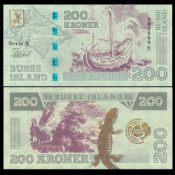 BUSSE ISLAND / ILE BUSS - Billet de 200 Kroner - Lezard / Bateaux - 2017