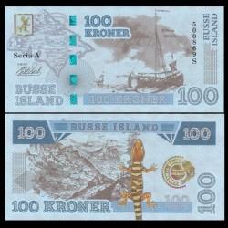 BUSSE ISLAND / ILE BUSS - Billet de 100 Kroner - Lezard / Bateaux - 2017
