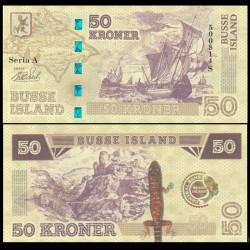 BUSSE ISLAND / ILE BUSS - Billet de 50 Kroner - Lezard / Bateaux - 2017