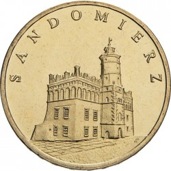 POLOGNE - PIECE de 2 ZLOTE - Chateau de Sandormierz - 2006 Y#550