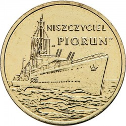 POLOGNE - PIECE de 2 ZLOTE - Destroyer Piorun - 2012 Y#844