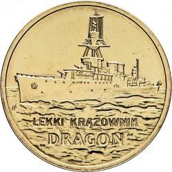 POLOGNE - PIECE de 2 ZLOTE - Croiseur léger DRAGON - 2012