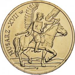 POLOGNE - PIECE de 2 ZLOTE - Histoire de la Cavalerie Polonaise: Hussard du XVIIe siècle - 2009