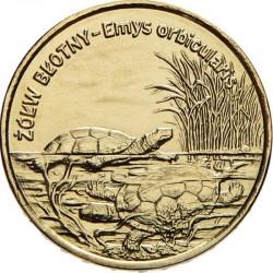 POLOGNE - PIECE de 2 ZLOTE - Le monde des animaux: Tortue d'étang - 2002 Y#427