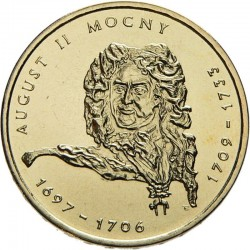 POLOGNE - PIECE de 2 ZLOTE - Rois et princes polonais: Auguste II de Pologne - 2002