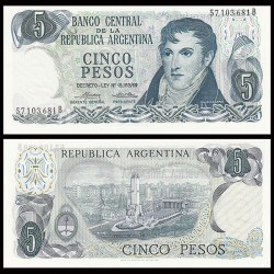 ARGENTINE - Billet de 5 Pesos - 1976