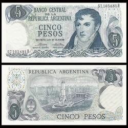 ARGENTINE - Billet de 5 Pesos - 1976 P294a2