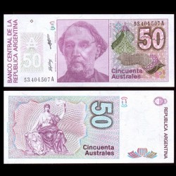 ARGENTINE - Billet de 50 Australes - 1985/1989