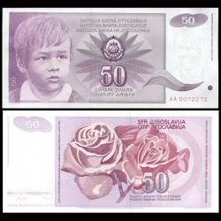 YOUGOSLAVIE - Billet de 50 Dinara - 1990