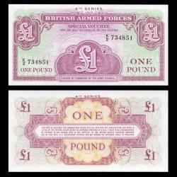 ROYAUME UNI / ARMEE - Billet de 1 Pound / Special Voucher - 1962 PM36a
