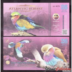ATLANTIC FOREST - Billet de 26 Aves - Rollier à longs brin - 2016