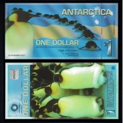 ANTARCTICA - Billet de 1 DOLLAR - Pingoins - 23 / 11 / 2007