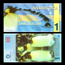 ANTARCTICA - Billet de 1 DOLLAR - Pingoins - 9 / 1 / 2010