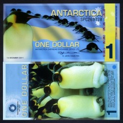 ANTARCTICA - Billet de 1 DOLLAR - Pingoins - 14/12/2011