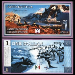 ANTARCTICA - Billet de 1 DOLLAR - Pingoins - 22/4/1999