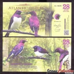 ATLANTIC FOREST - Billet de 28 Aves - Étourneau améthyste - 2016